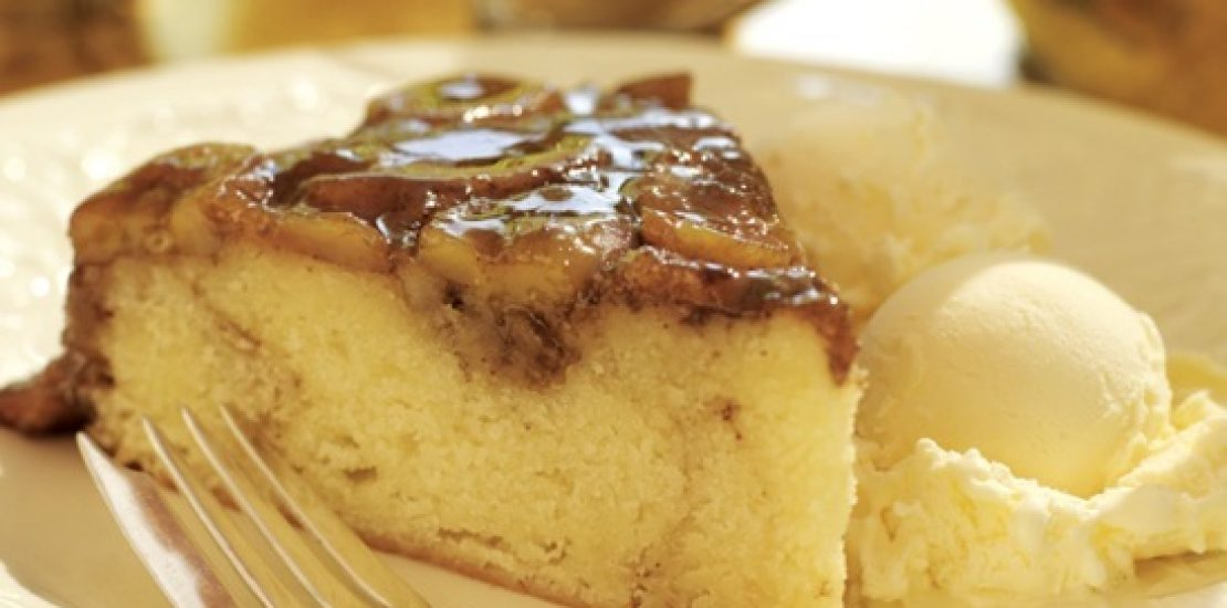 Bananas Foster Upside Down Cake