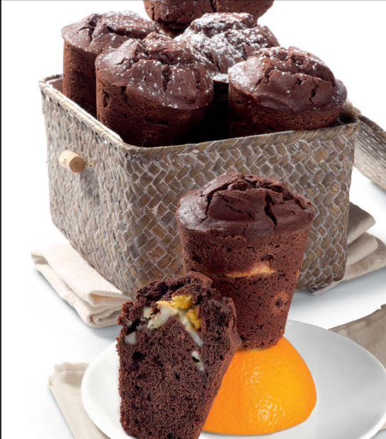 Chocolate Cupcakes With Orange And Banana