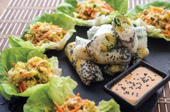 Mango, Avocado, And Cucumber Summer Rolls