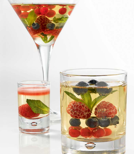 Moscato Jelly With Mixed Berries
